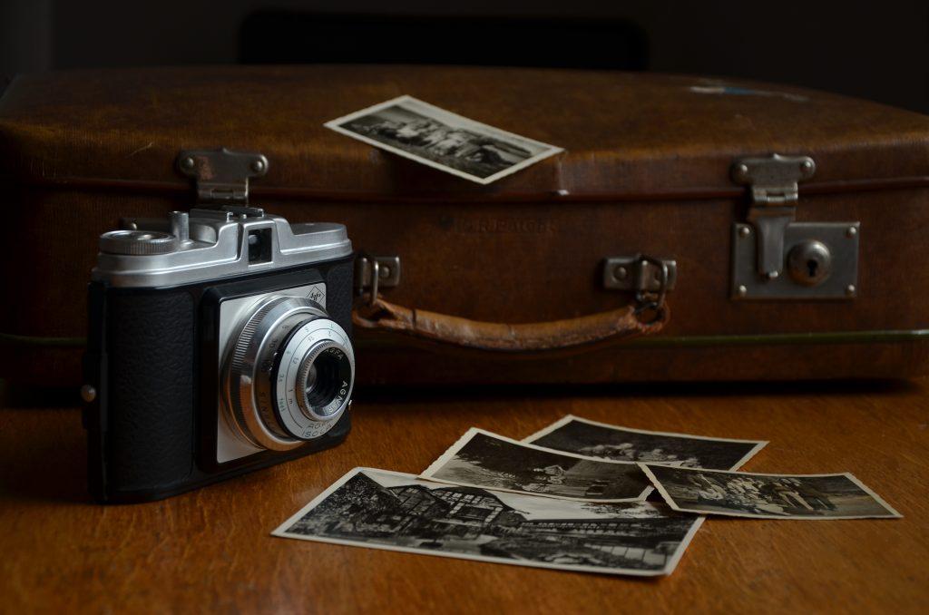 bagaż, fotografia, zdjęcia, zenit, stara walizka