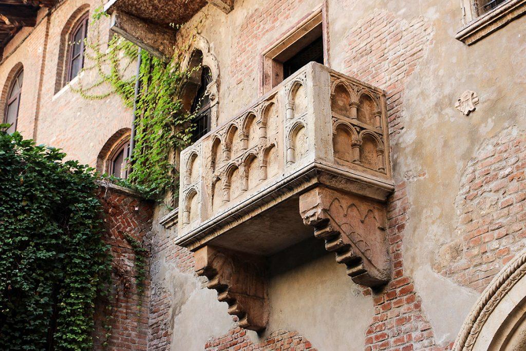 werona miasto zakochanych balkon julii