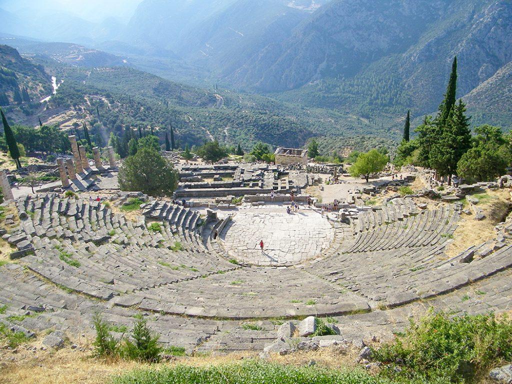 grecja delfy amfiteatr