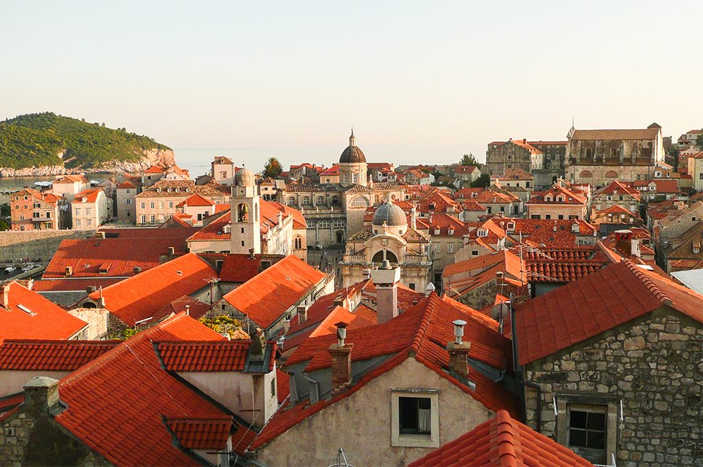 Czerwone dachy, Dubrovnik, Chorwacja