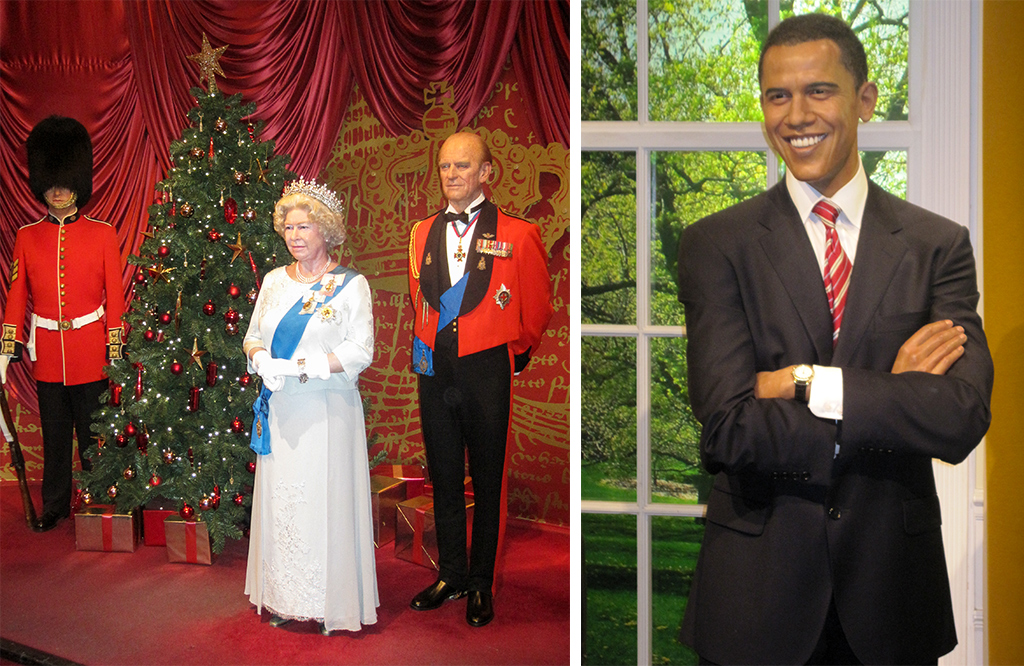 europejskie muzea Madame Tussauds London