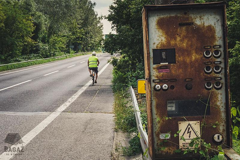 rowerzysta, granica słowacko-węgierska