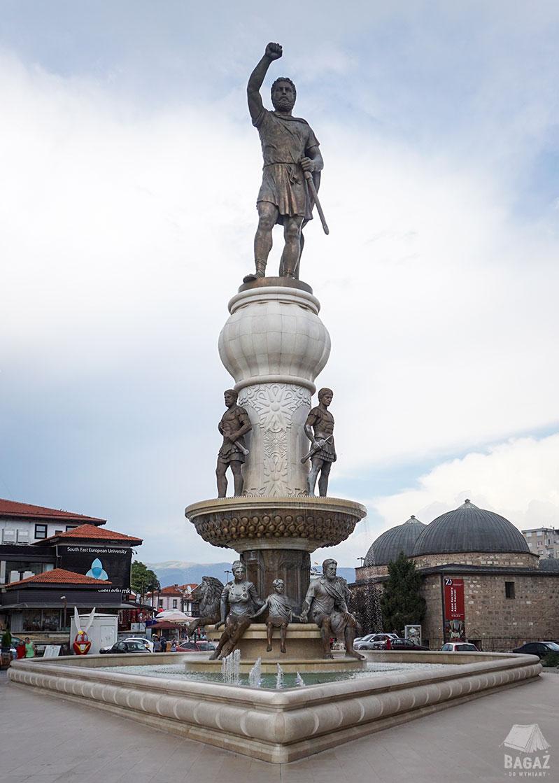 pomnik wojownika macedonia