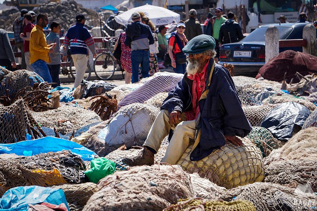 port de essaouira rybak maroko