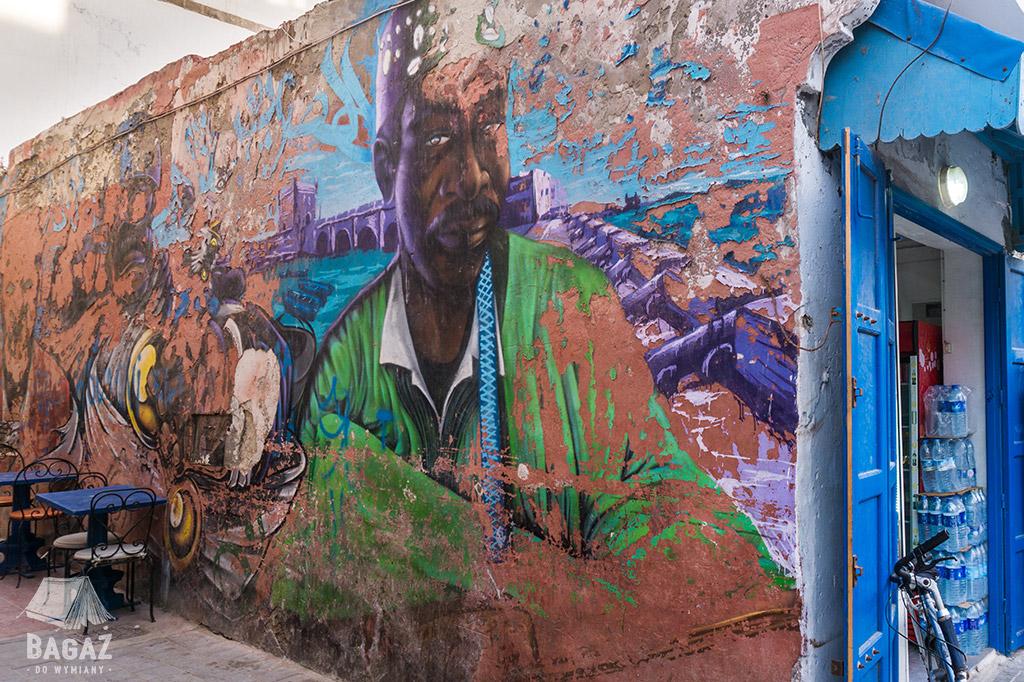 graffiti na ulicach essaouiry