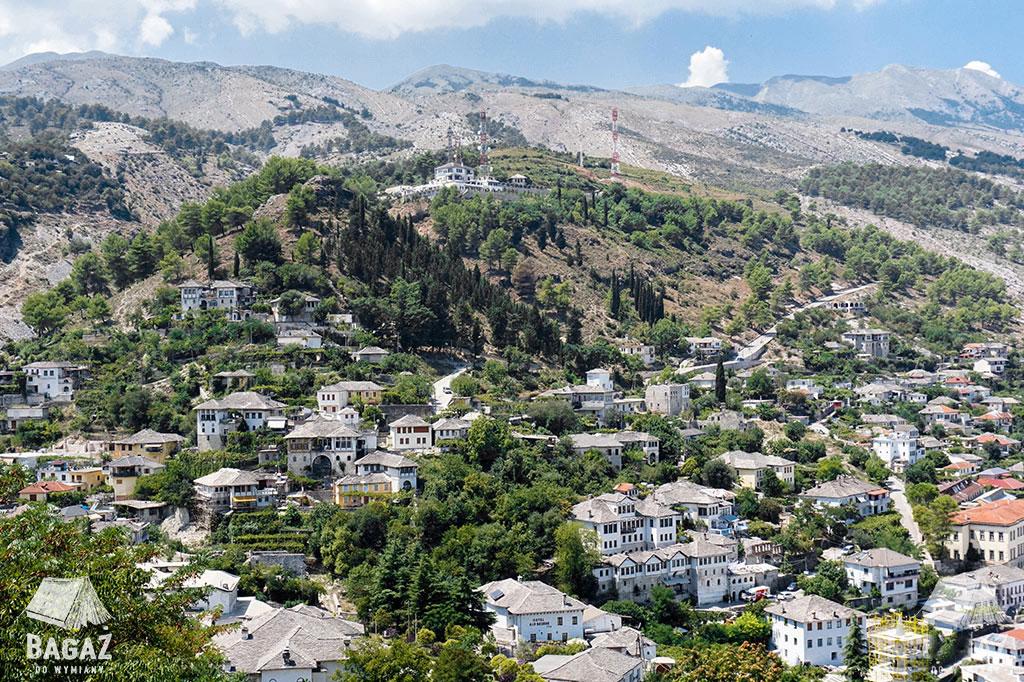 panorama z twierdzy kalaja gjirokastra
