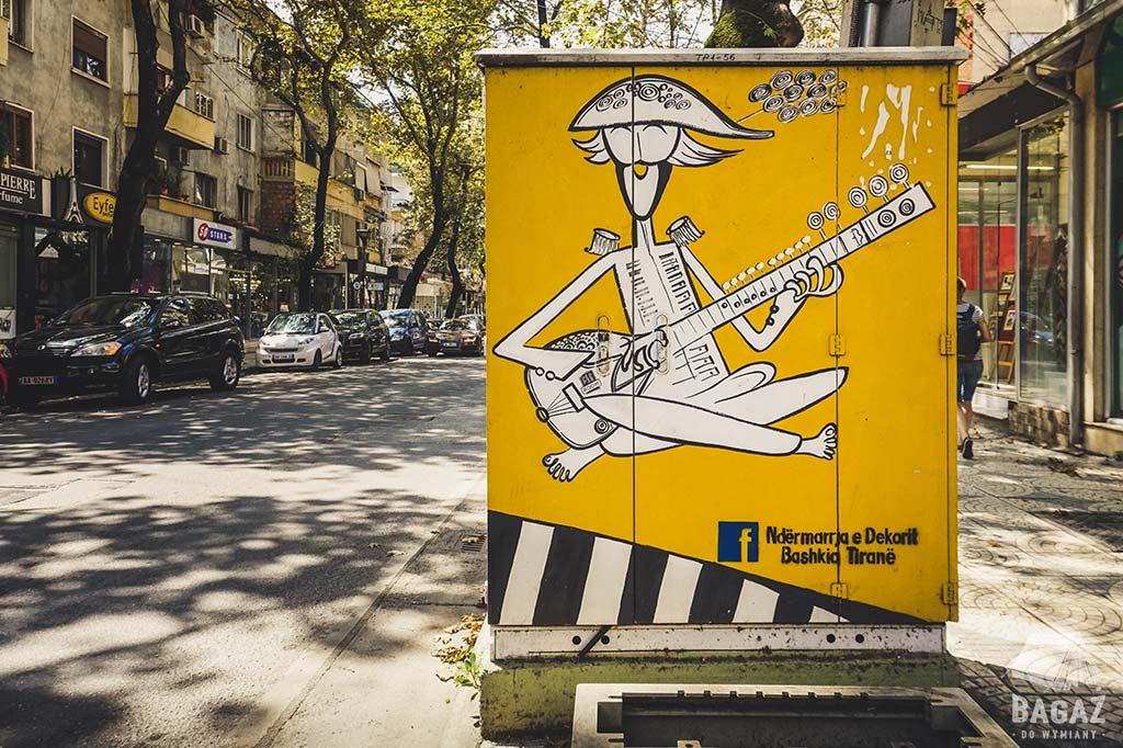 graffiti streetart w tiranie