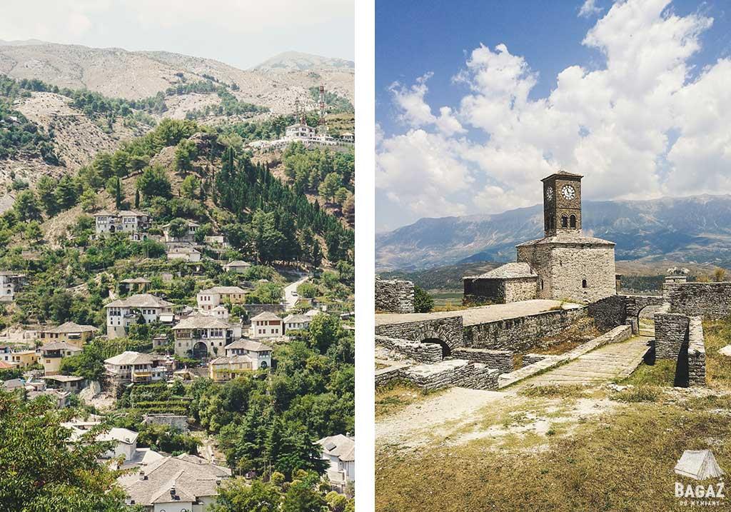 twierdza kalaja i panorama na miasto gjirokastra