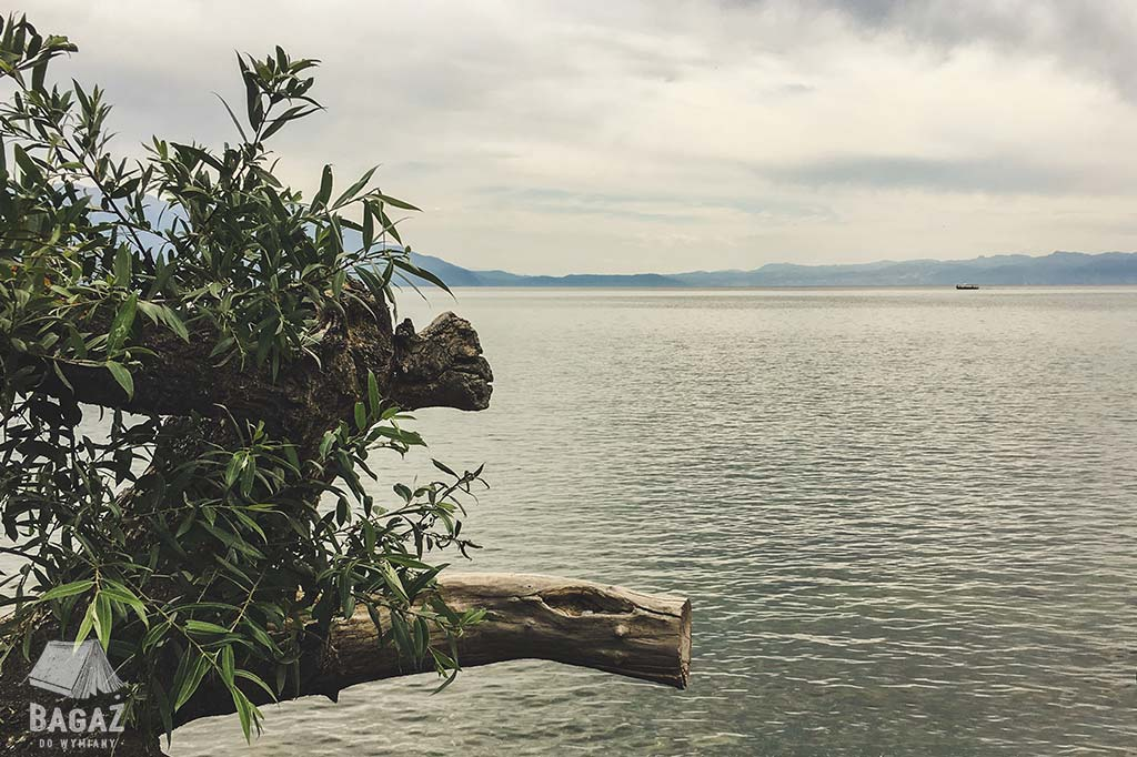widok na jezioro ochrydzkie