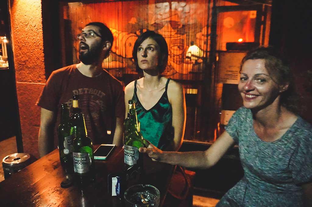 spotkanie w pubie w Skopje