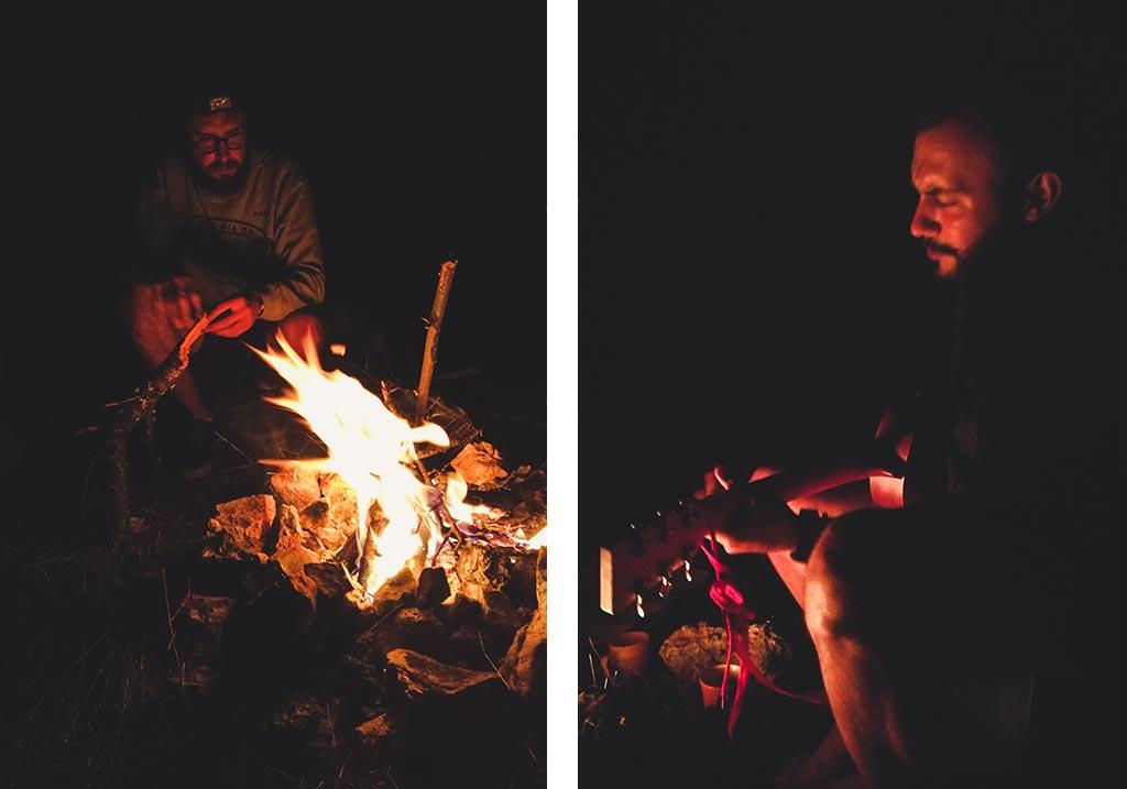 ognisko nad jeziorem ochrydzkim macedonia