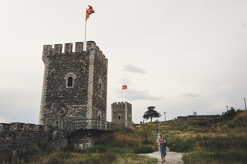 zamek w stolicy Macedonii - Skopje