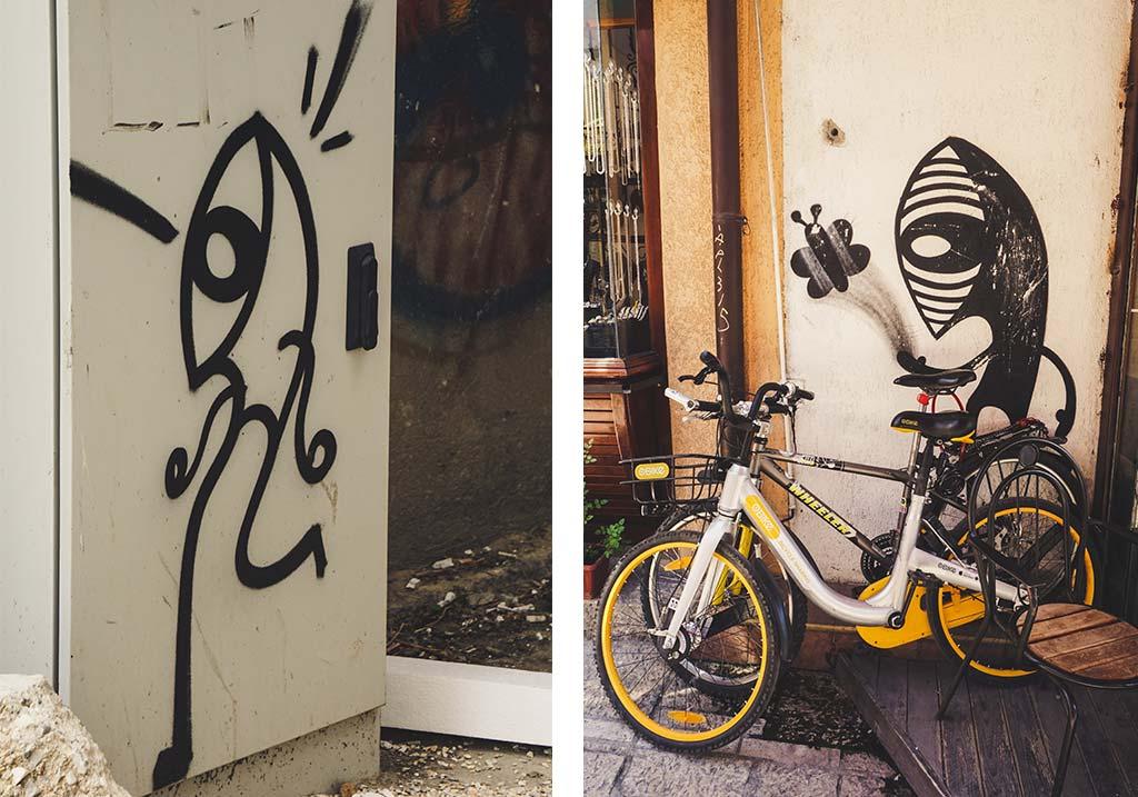 streetart polskiego artysty Noriaki na ulicach Skopje
