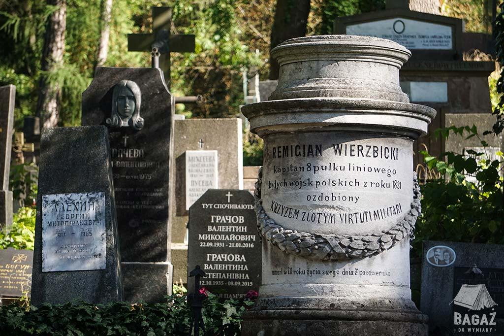 pomnik zasłużonego żołnierza na cmentarzu we lwowie