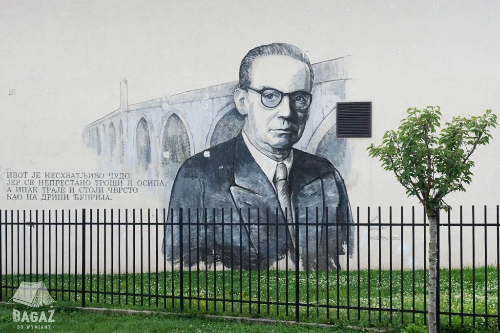 mural Ivo Andrić w Wiszegradzie