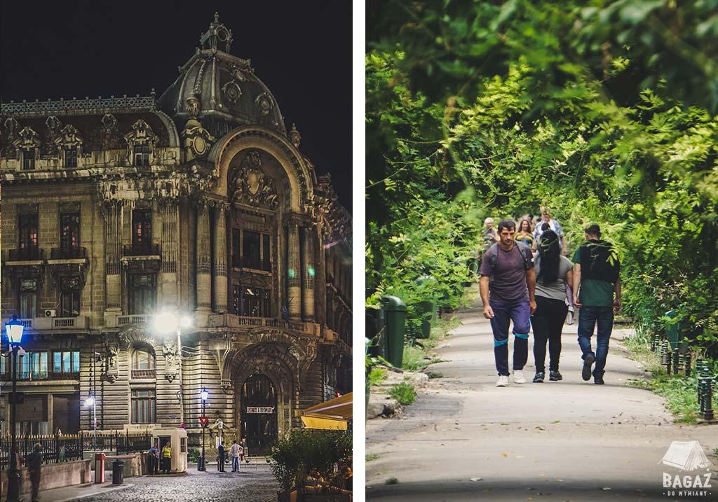 bukareszt nocą i za dnia