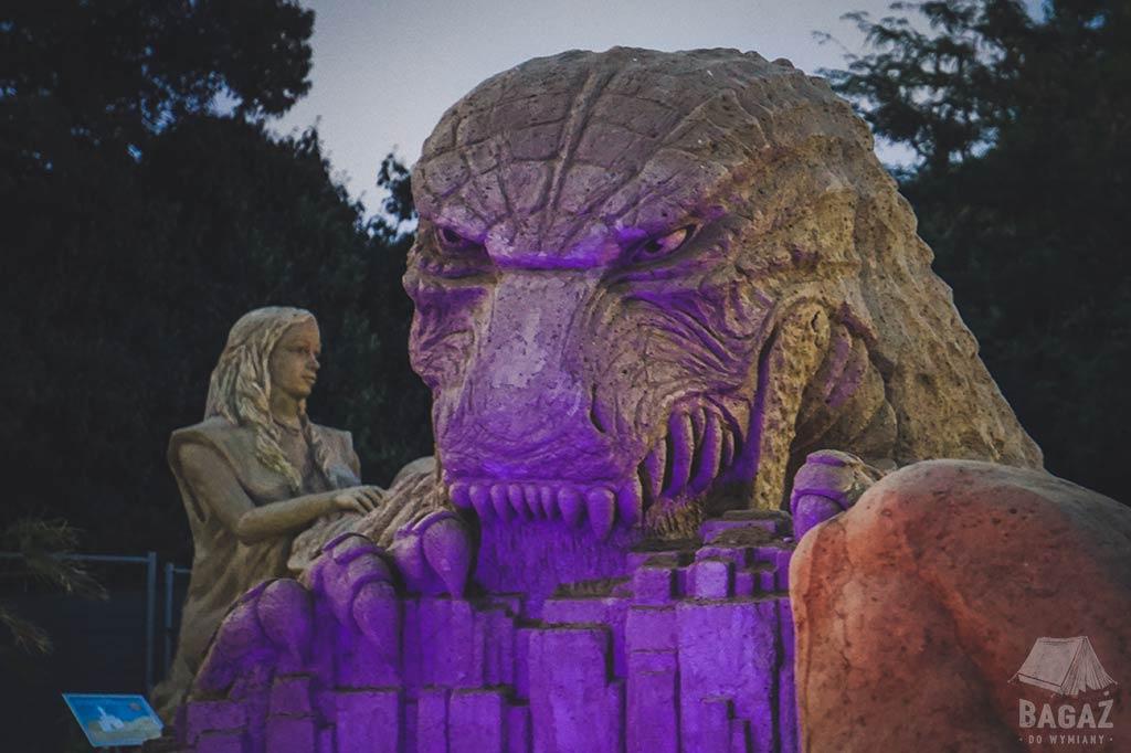 rzeźby piaskowe w Burgas w Bułgarii