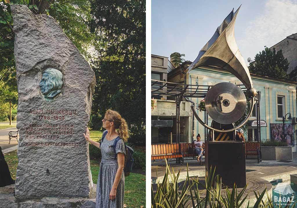 pomnik Adama Mickiewiczaw Burgas w Bułgarii