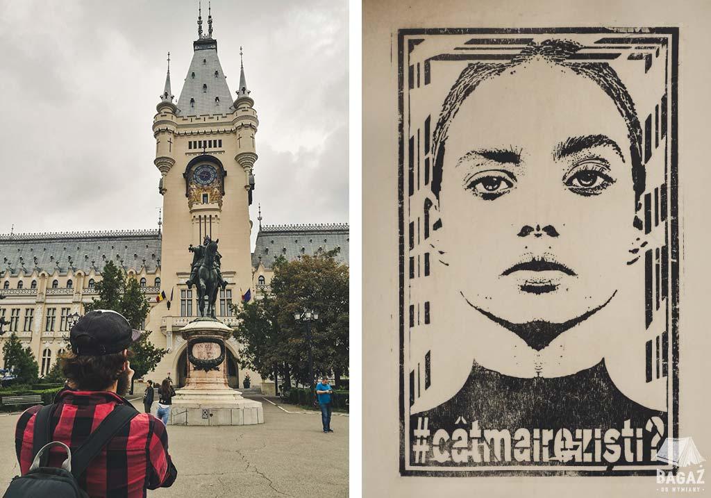 pałac kultury i streetart w jassy
