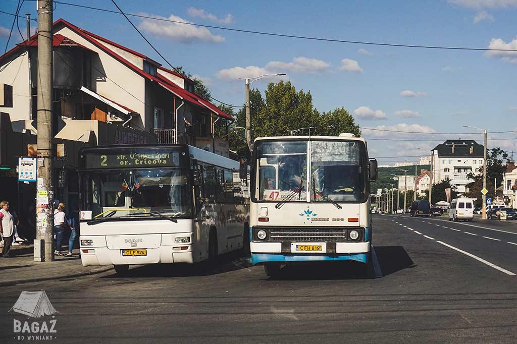 dwa autobusy na ulicach kiszyniowa