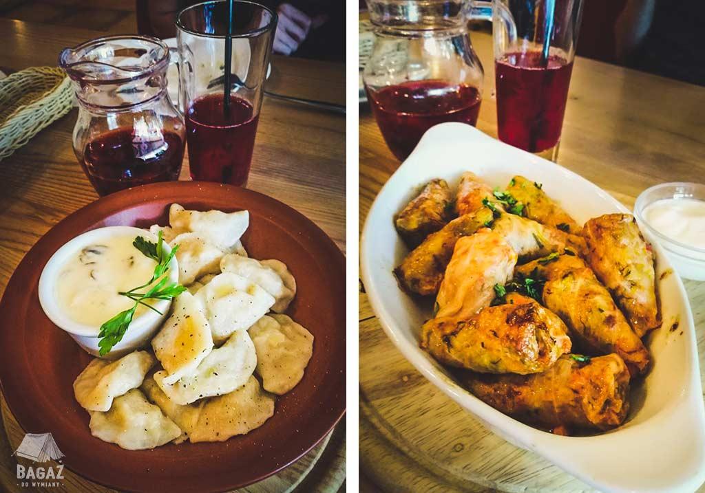 pierogi i gołąbki z restauracji la placinte w kiszyniowie