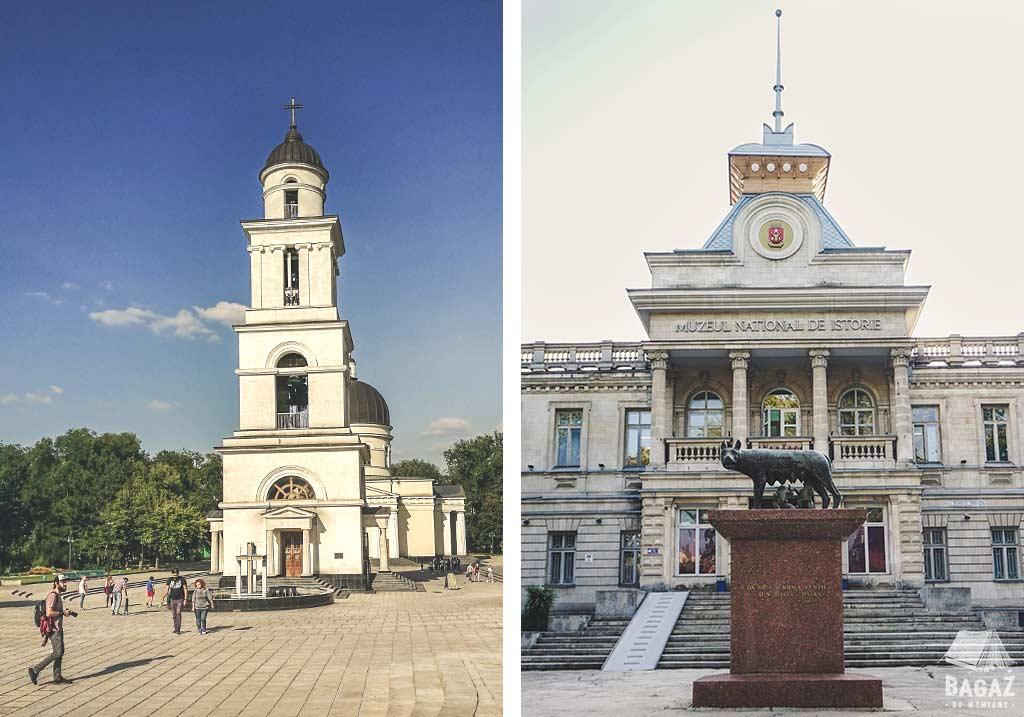 kościół oraz rzeźba romulusa i remusa w stolicy mołdawii