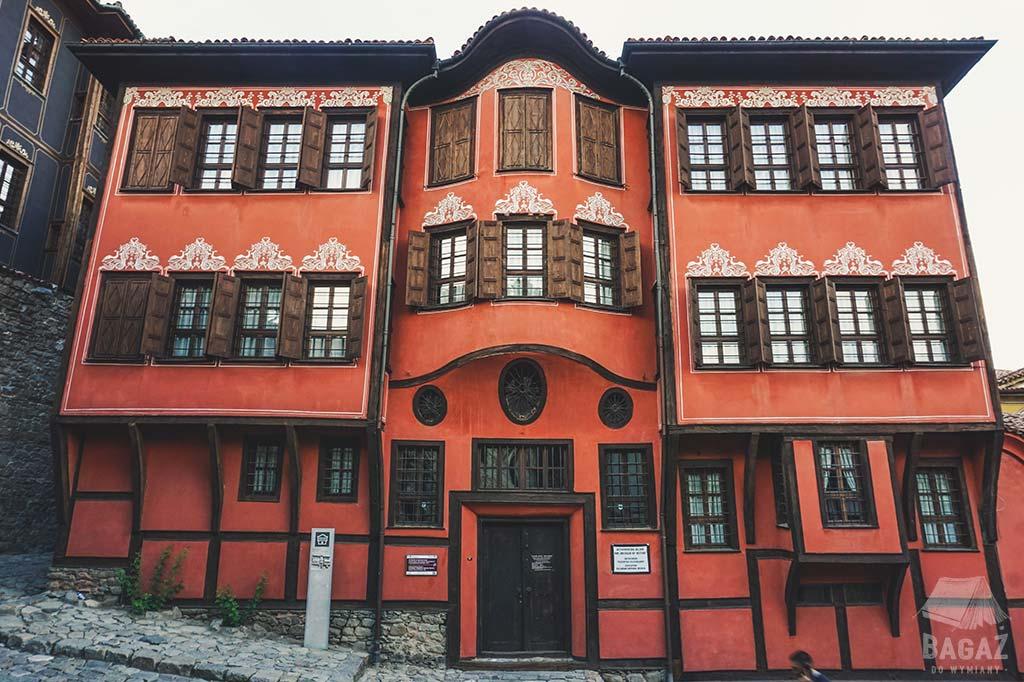historyczny budynek w starej części miasta Plovdiv