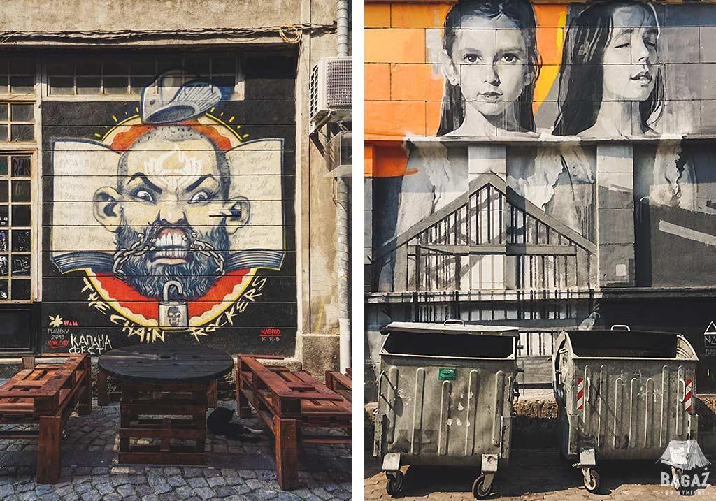 graffiti w dzielnicy Kapana