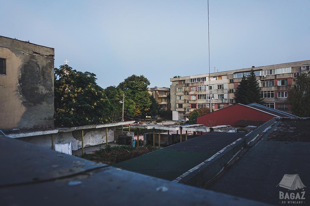 widok z okna w hotelu Shabla