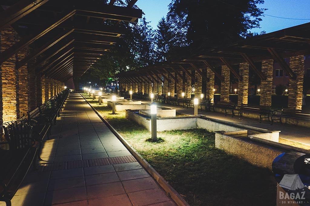 park nocą, Bułgaria, Shabla