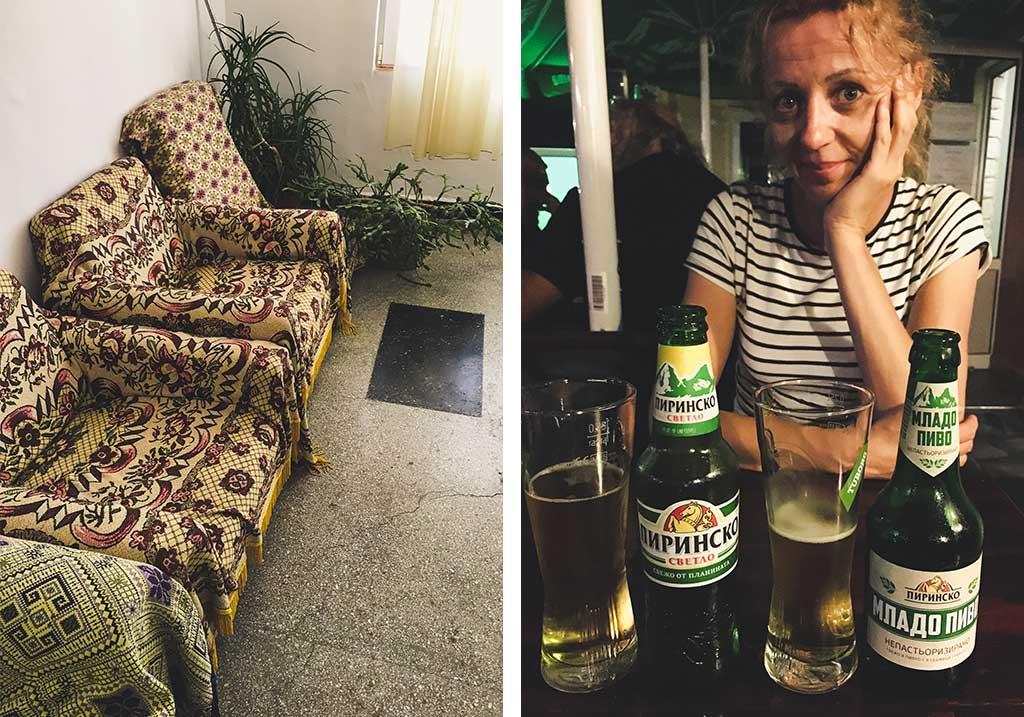 stare fotele w bułgarskim hotelu
