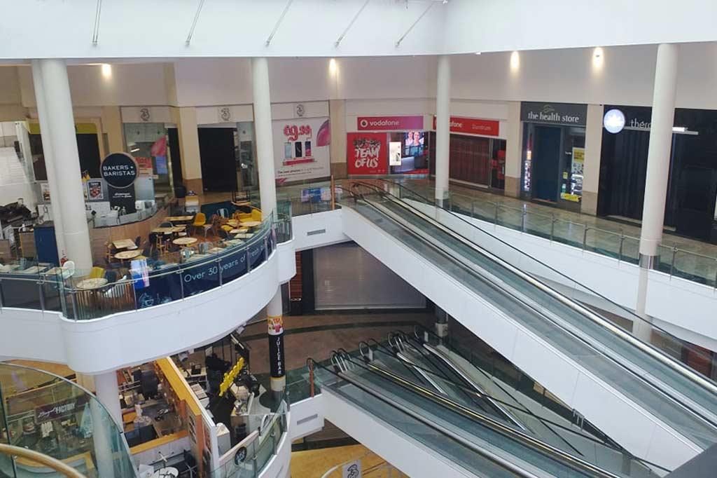 puste centrum handlowe w dublinie