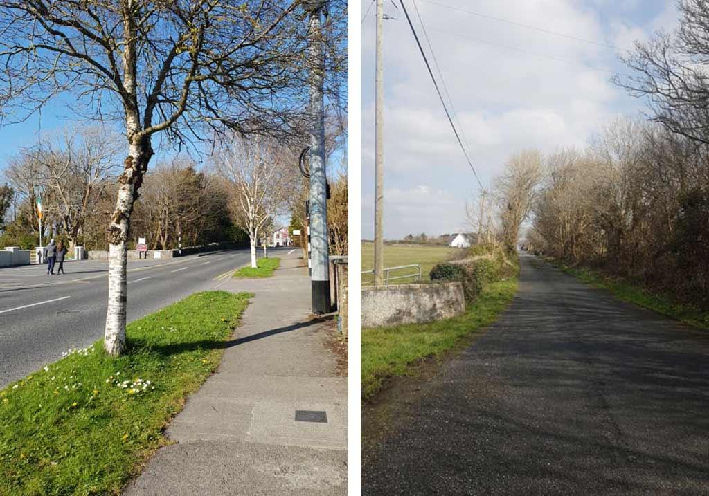 irlandia puste ulice oranmore z powodu koronawirusa