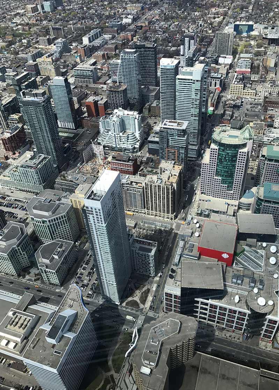 kanada widok z góry na wieżowce